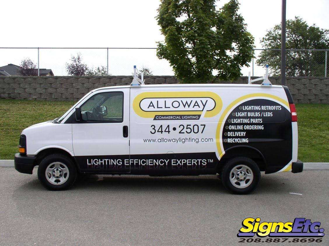 Alloway Lighting Van Graphics on van wraps graphics