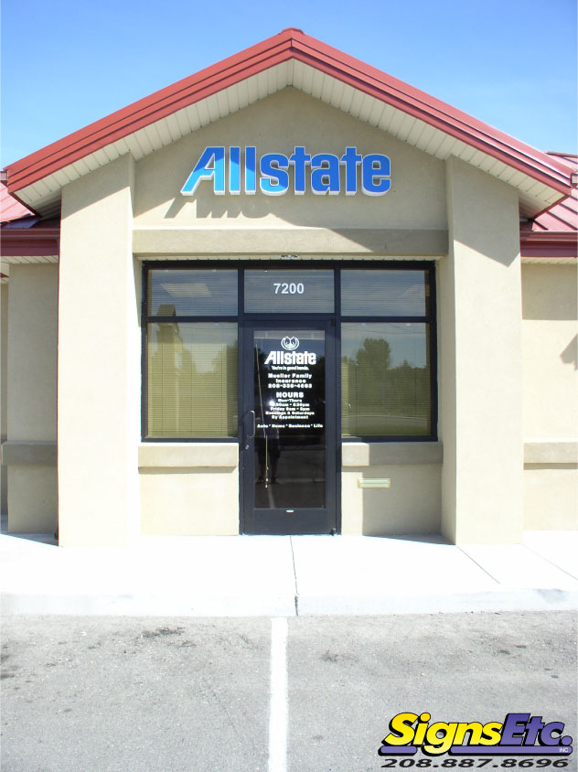 Allstate Insurance Office Channel Letter Sign
