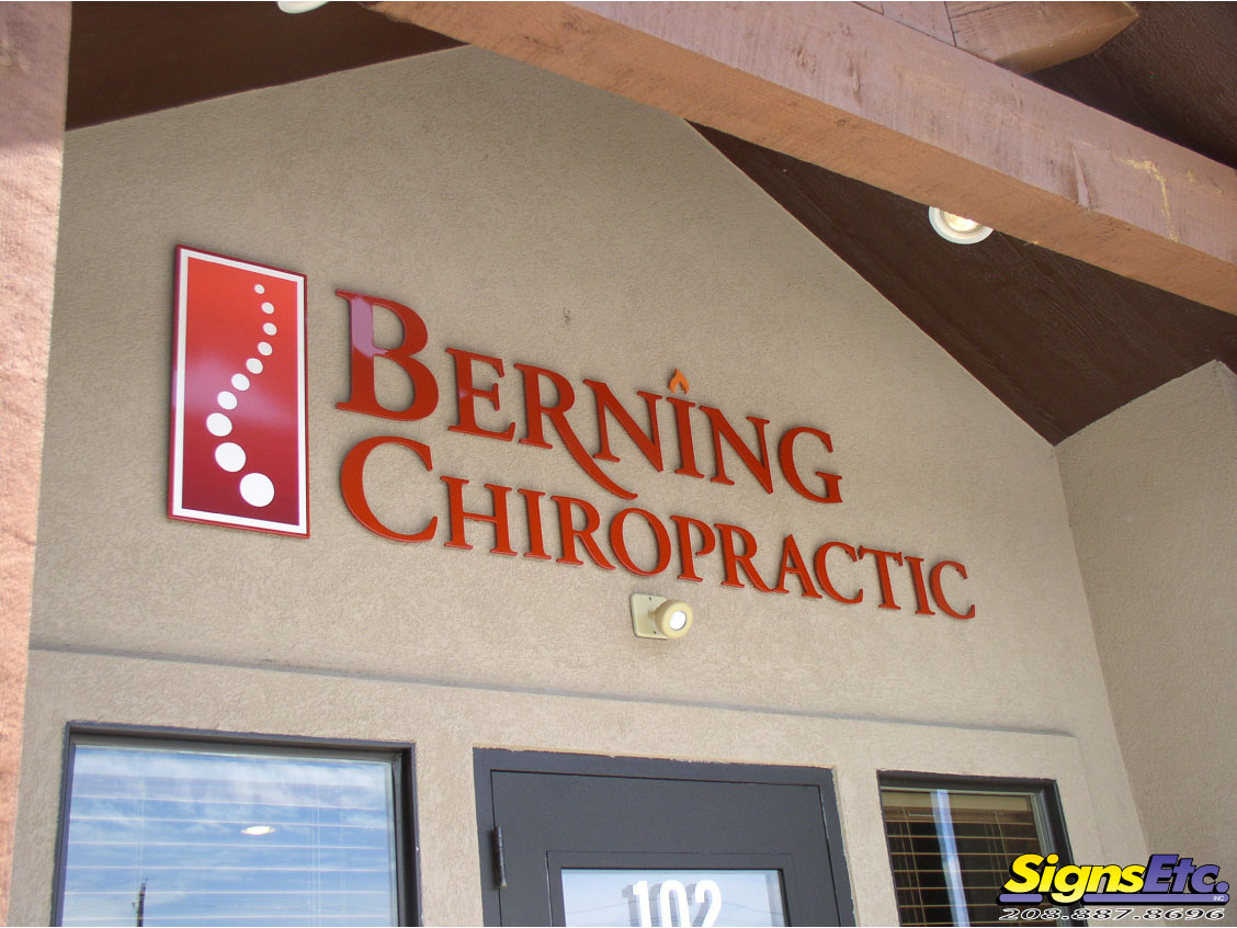 Berning chiropractic exterior office sign for Exterior office signs