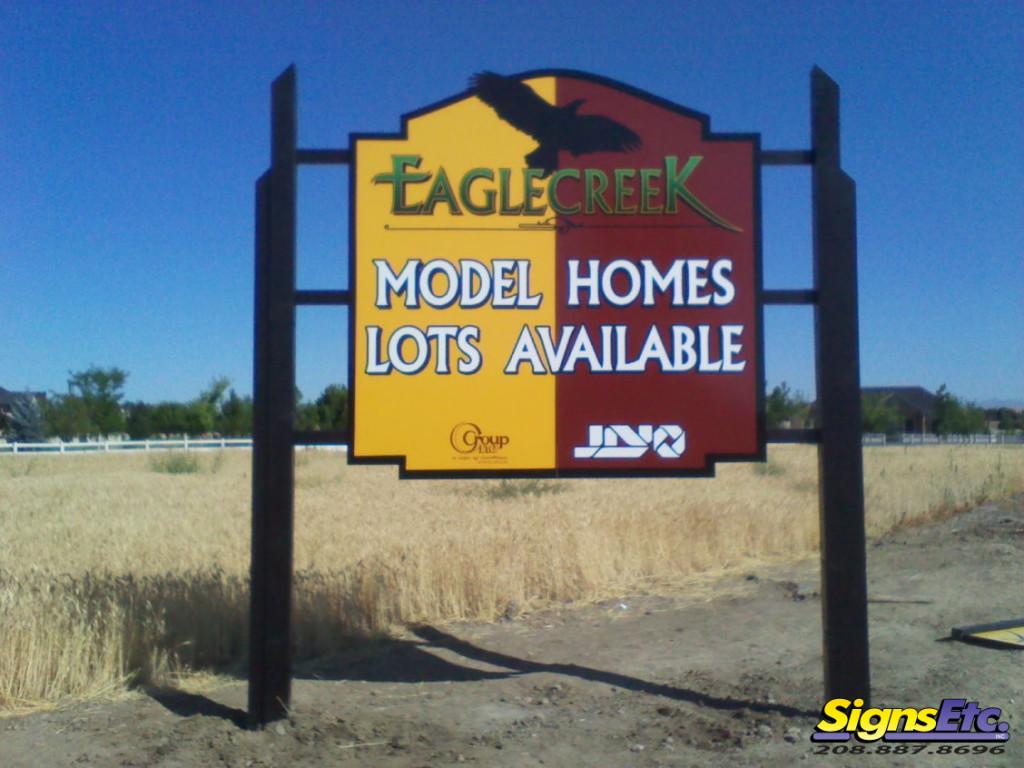 eagle creek real estate sign