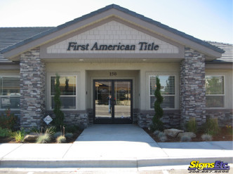 First American Title Exterior Sign Letters