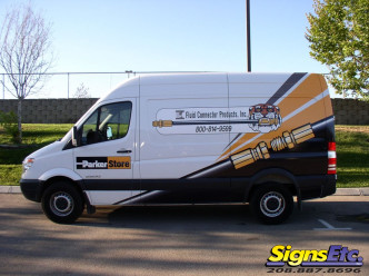 fluid connector sprinter van graphics