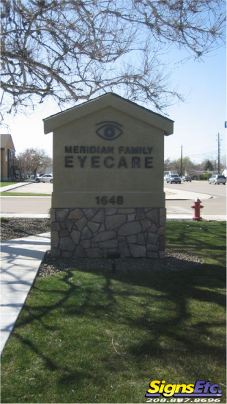 Meridian Family Eyecare Monument Sign