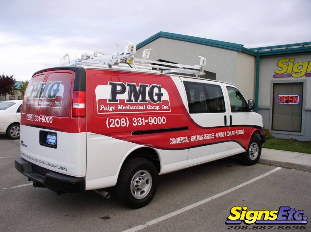 Paige Mechanical Group Van Graphics