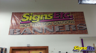 Signs Etc Color Printed Wall Banner