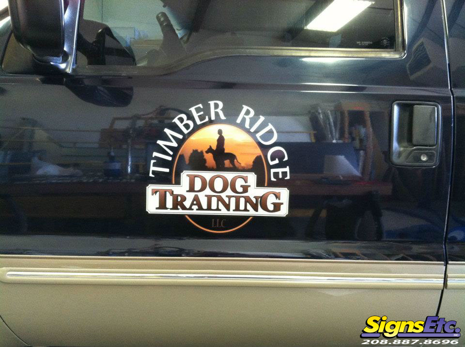 Timber Ridge Dog Training Truck Door Logo Graphic