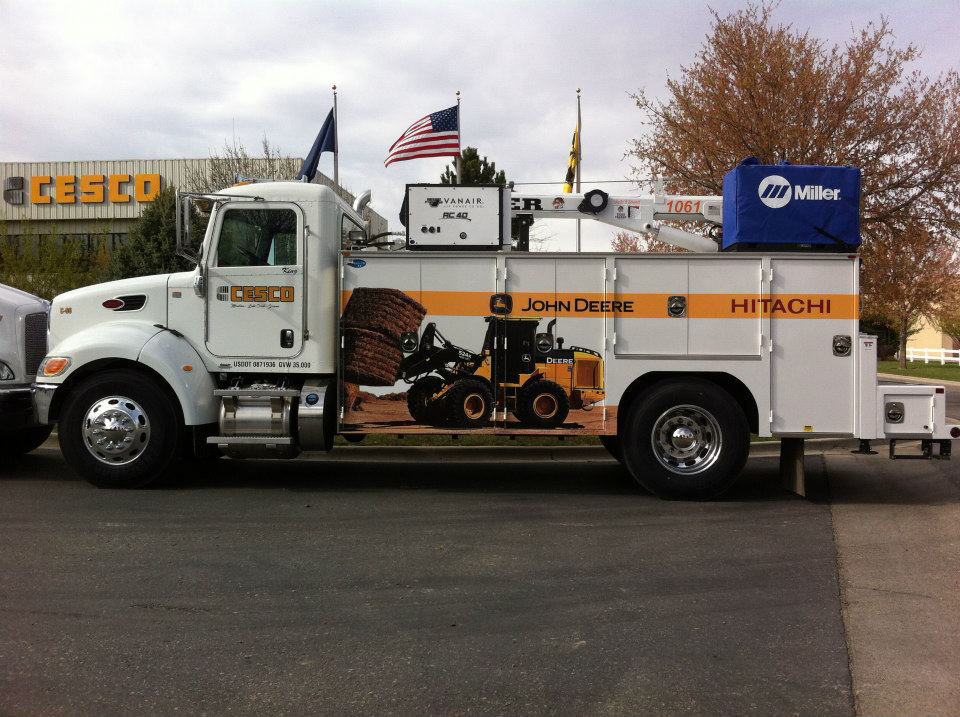 cesco equipment commercial truck graphic