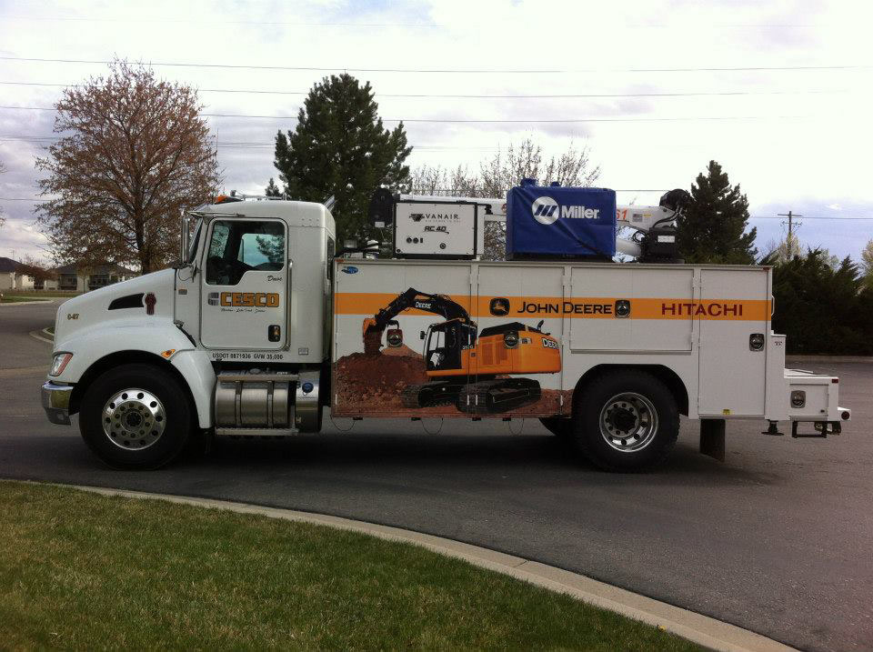 cesco service truck graphics