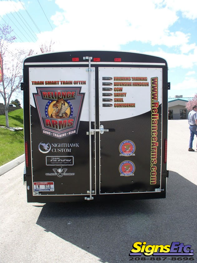 reliance arms trailer graphics