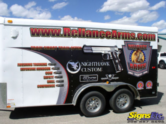 reliance arms trailer wrap