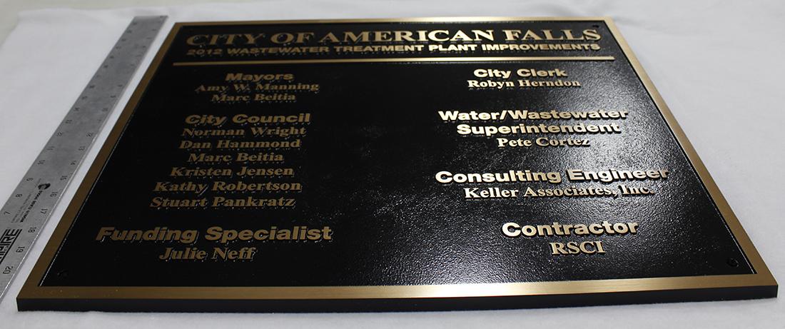 5 Cast Bronze Plaque